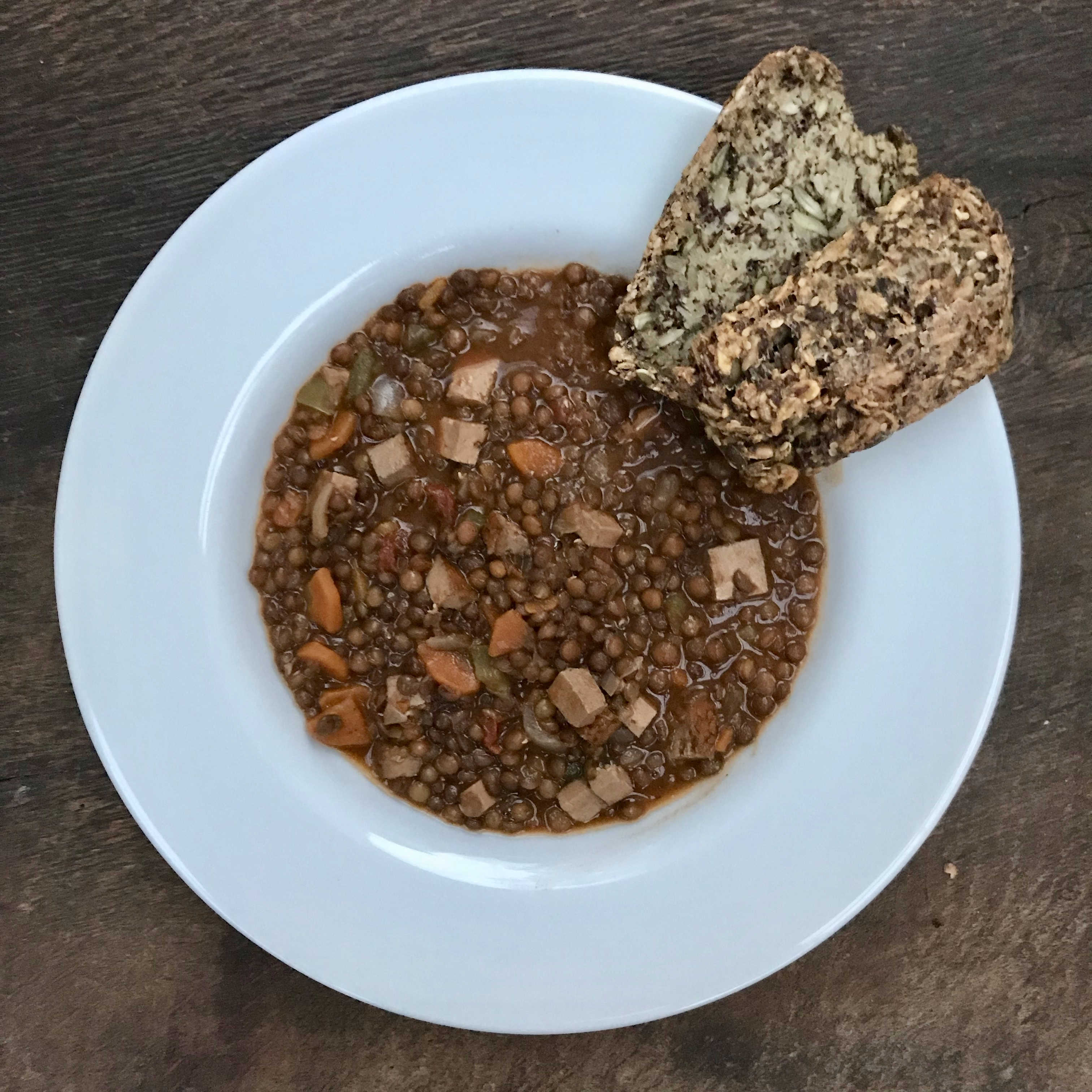 Vegan Lentil Stew with Tofu